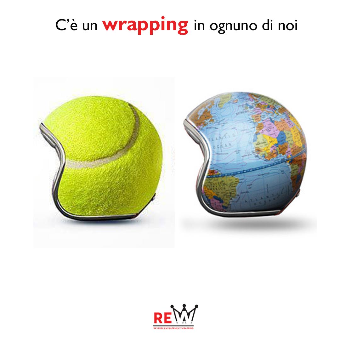 Caschi realizzati con il wrapping