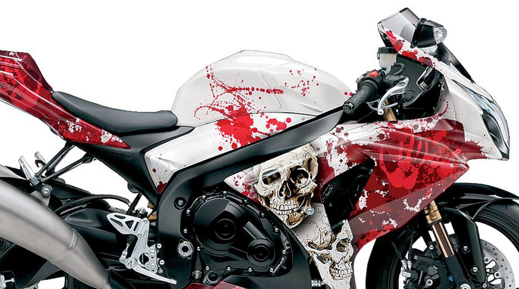 Moto Wrapping decorazione fantasia